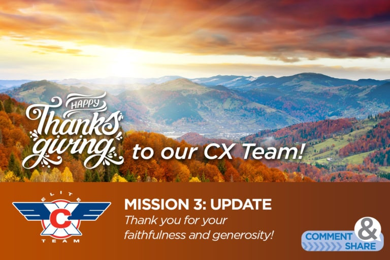 Happy Thanksgiving to our CX Team!