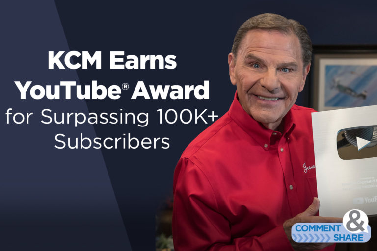 KCM Earns YouTube® 'Silver Creator Award' for Surpassing 100K Subscribers
