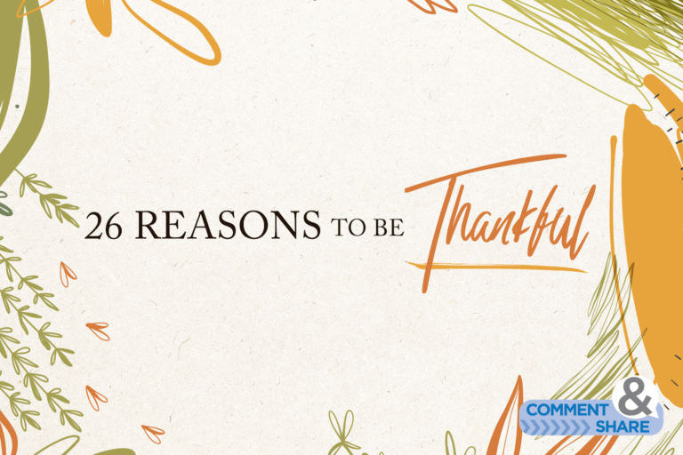 26 Reasons to Be Thankful