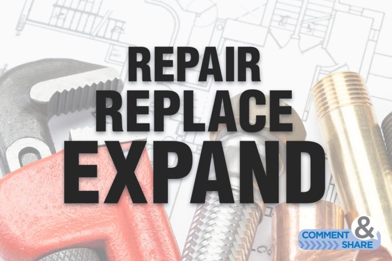 Update From the  Revival Capital of the World® — Repair, Replace, Expand!