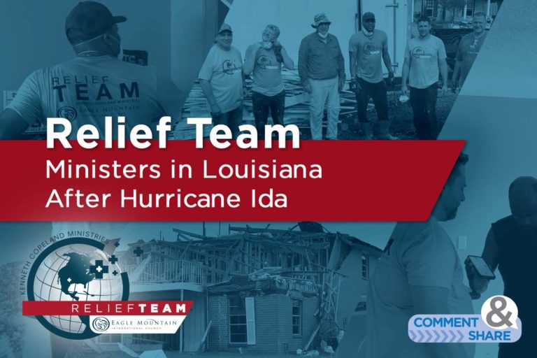 Relief Team Ministers in Louisiana After Hurricane Ida